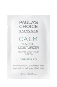 Calm Mineral Moisturizer Broad Spectrum SPF 30 normal to dry skin  Sample