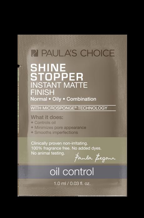 Shine Stopper Instant Matte Finish with Microsponge Technology Sample
