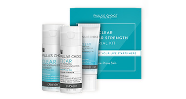Shop trial-sizes for acne-prone skin