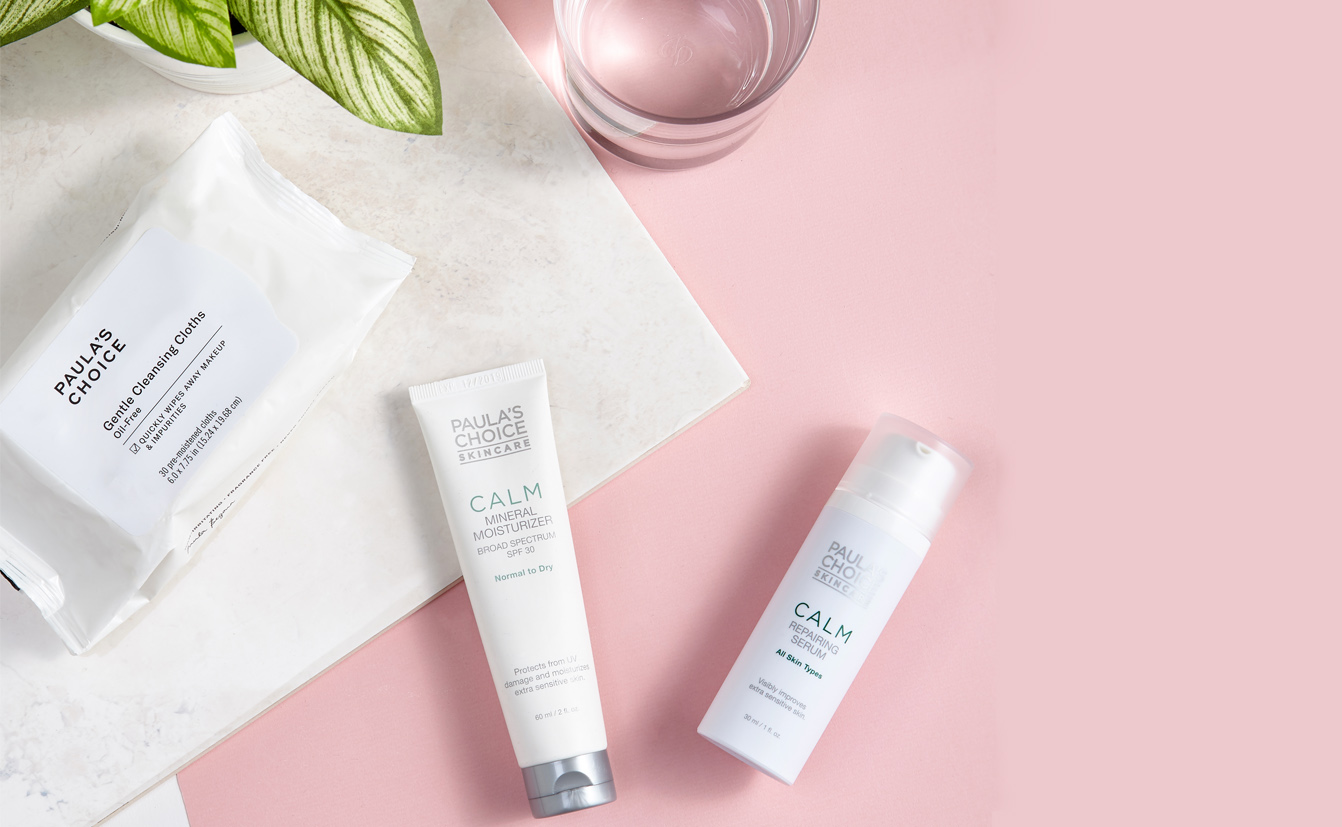 For sensitive skin: the Calm-line