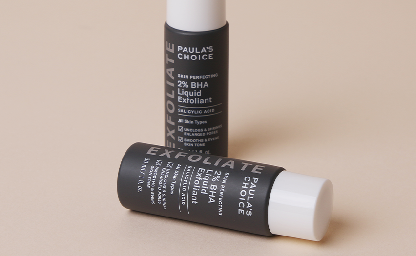 Exfoliation for oily skin with a BHA